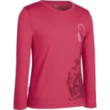Icebreaker Bodyfit 200 Bella T-Shirt - Merino Wool, Long Sleeve (For Girls) in Hip Hop Cherub - Closeouts