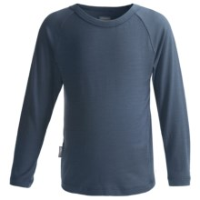 Icebreaker Bodyfit 200 Creeper Base Layer Top - Merino Wool, UPF 50+, Long Sleeve (For Kids) in Ash - Closeouts