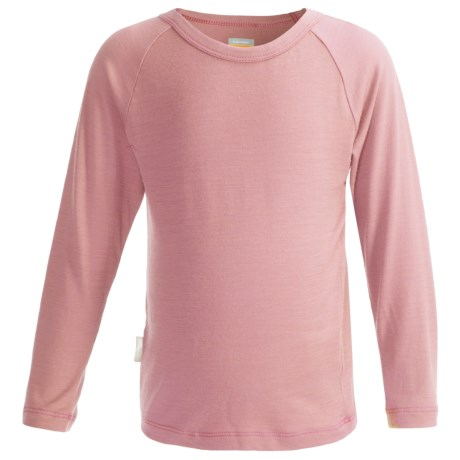 Icebreaker Bodyfit 200 Creeper Base Layer Top - Merino Wool, UPF 50+, Long Sleeve (For Kids) in Blush