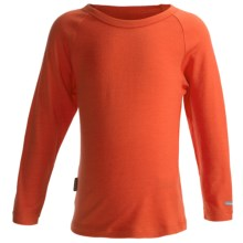 Icebreaker Bodyfit 200 Creeper Base Layer Top - Merino Wool, UPF 50+, Long Sleeve (For Kids) in Coral - Closeouts