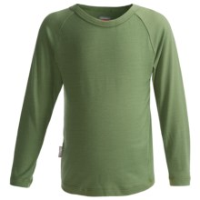 Icebreaker Bodyfit 200 Creeper Base Layer Top - Merino Wool, UPF 50+, Long Sleeve (For Kids) in Pea - Closeouts