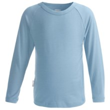 Icebreaker Bodyfit 200 Creeper Base Layer Top - Merino Wool, UPF 50+, Long Sleeve (For Kids) in Planet - Closeouts