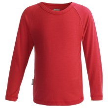 Icebreaker Bodyfit 200 Creeper Base Layer Top - Merino Wool, UPF 50+, Long Sleeve (For Kids) in Salsa - Closeouts