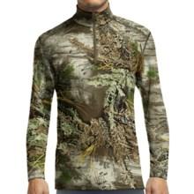 Icebreaker Bodyfit 200 IKA Realtree® Base Layer Top - UPF 30+, Merino Wool, Lightweight, Zip Neck, Long Sleeve (For Men) in Real Tree Max/Cargo - Closeouts