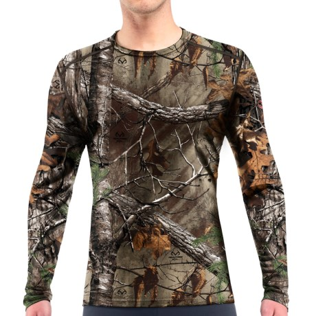 Icebreaker BodyFit 200 IKA Realtree(R) Base Layer Top UPF 30+, Merino Wool, Long Sleeve (For Men)