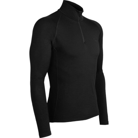Icebreaker Bodyfit 200 Mondo Base Layer Top - Merino Wool, Lightweight, Long Sleeve (For Men) in Black