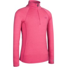 Icebreaker Bodyfit 200 Mondo Zip Base Layer Top - Merino Wool, Lightweight, Long Sleeve (For Kids) in Bloom - Closeouts