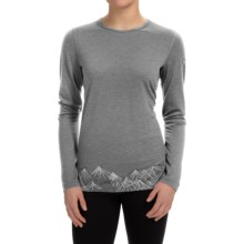 Icebreaker BodyFit 200 Oasis Aoraki 2 Base Layer Top - UPF 30+, Merino Wool, Long Sleeve (For Women) in Metro Heather - Closeouts