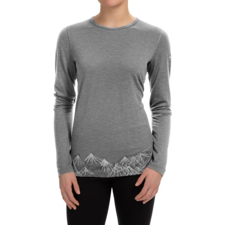 Icebreaker BodyFit 200 Oasis Aoraki 2 Base Layer Top UPF 30+, Merino Wool, Long Sleeve (For Women)