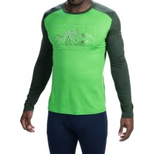 Icebreaker BodyFit 200 Oasis Aoraki Base Layer Top - UPF 30+, Merino Wool, Long Sleeve (For Men) in Balsam/Conifer - Closeouts