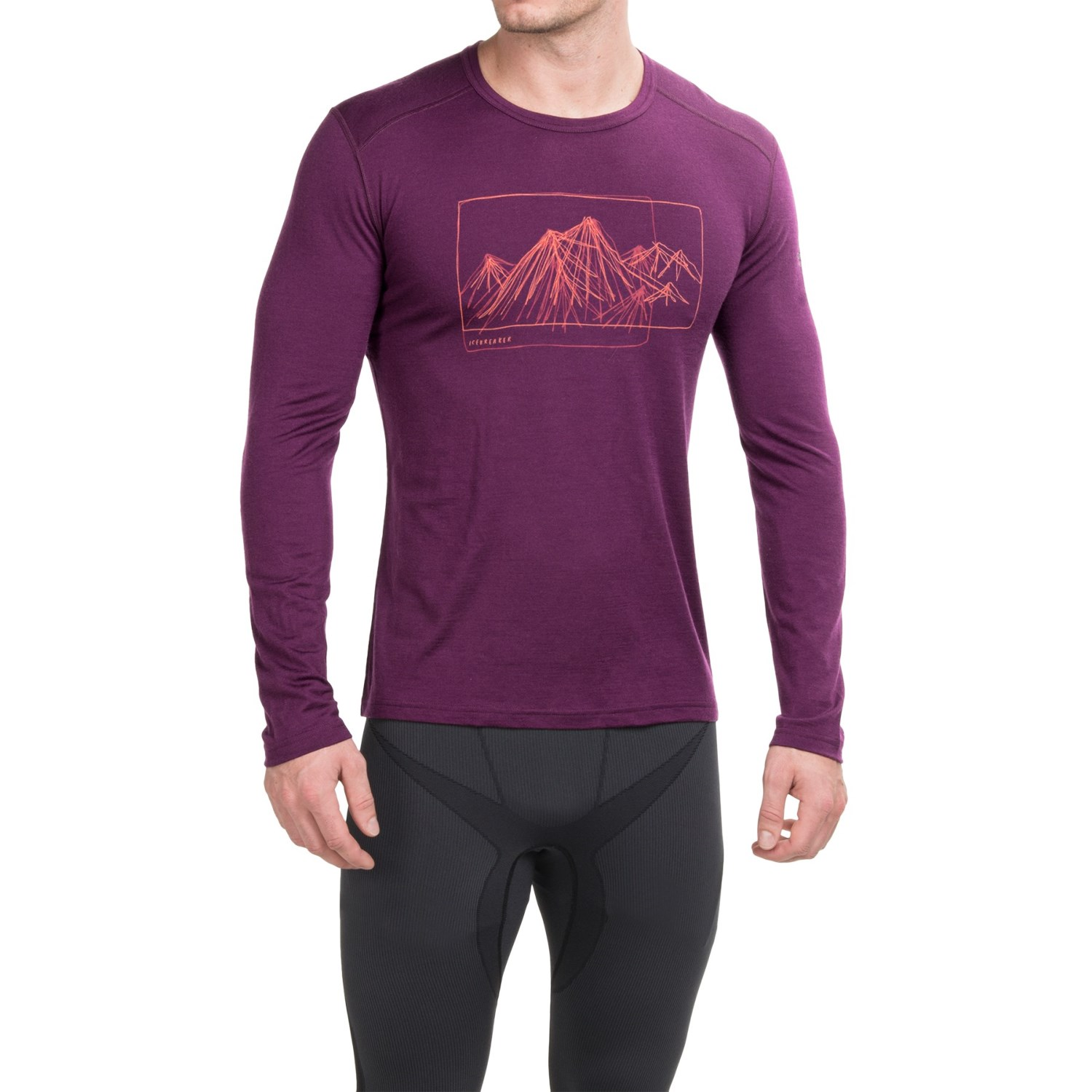 icebreaker bodyfit 200 oasis aoraki base layer top for