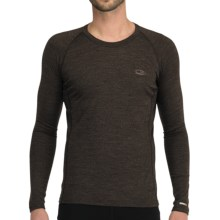 Icebreaker Bodyfit 200 Oasis Base Layer Top - Merino Wool, Lightweight, Long Sleeve (For Men) in Earthen - Closeouts