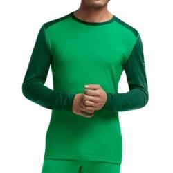 Icebreaker Bodyfit 200 Oasis Base Layer Top - Merino Wool, Lightweight, Long Sleeve (For Men) in Lucky/Bottle/Bottle