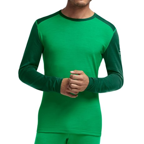 Icebreaker Bodyfit 200 Oasis Base Layer Top - Merino Wool, Lightweight, Long Sleeve (For Men) in Lucky/Bottle/Bottle