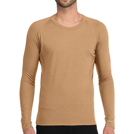 Icebreaker Bodyfit 200 Oasis Base Layer Top - Merino Wool, Lightweight, Long Sleeve (For Men) in Tan