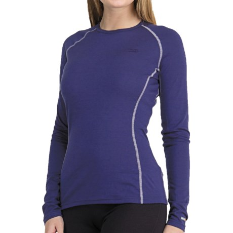 Icebreaker Bodyfit 200 Oasis Base Layer Top - Merino Wool, Lightweight, Long Sleeve (For Women) in Black Solid