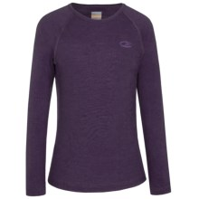 Icebreaker BodyFit 200 Oasis Base Layer Top - Merino Wool, Long Sleeve (For Little and Big Kids) in Lotus - Closeouts