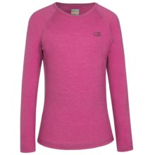 Icebreaker BodyFit 200 Oasis Base Layer Top - Merino Wool Long Sleeve (For Little and Big Kids) in Magenta - Closeouts