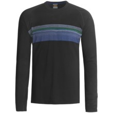 Icebreaker Bodyfit 200 Oasis Base Layer Top - Merino Wool, Long Sleeve (For Men) in Approach/Black - Closeouts
