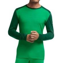 Icebreaker BodyFit 200 Oasis Base Layer Top - Merino Wool, Long Sleeve (For Men) in Lucky/Bottle/Bottle - Closeouts