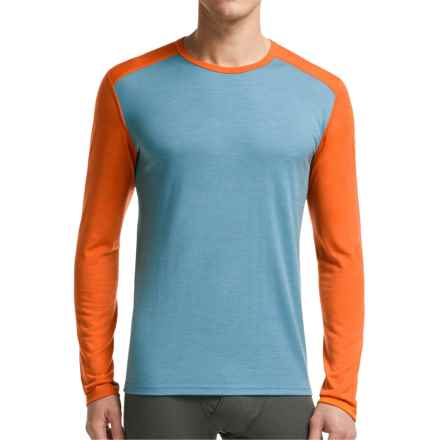 Icebreaker BodyFit 200 Oasis Base Layer Top - Merino Wool, Long Sleeve (For Men) in Tundra/Spark - Closeouts
