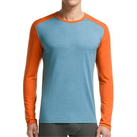 Icebreaker BodyFit 200 Oasis Base Layer Top - Merino Wool, Long Sleeve (For Men) in Tundra/Spark