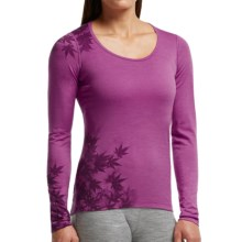 Icebreaker Bodyfit 200 Oasis Base Layer Top - UPF 30+, Merino Wool, Long Sleeve (For Women) in Sweetpea - Closeouts