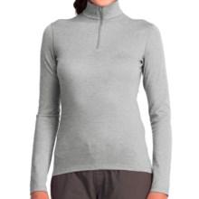 Icebreaker Bodyfit 200 Oasis Base Layer Top - UPF 30+, Mock Zip Neck, Merino Wool, Long Sleeve (For Women) in Blizzard Heather - Closeouts
