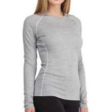 Icebreaker Bodyfit 200 Oasis Base Layer Top - UPF 50+, Lightweight, Merino Wool, Long Sleeve (For Women) in Blizzard - Closeouts