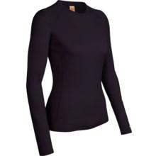 Icebreaker Bodyfit 200 Oasis Base Layer Top - UPF 50+, Lightweight, Merino Wool, Long Sleeve (For Women) in Cognac - Closeouts
