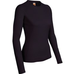 Icebreaker Bodyfit 200 Oasis Base Layer Top - UPF 50+, Lightweight, Merino Wool, Long Sleeve (For Women) in Cognac