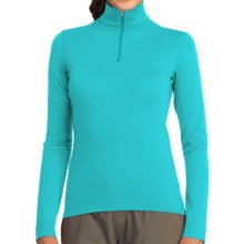Icebreaker BodyFit 200 Oasis Base Layer Zip Neck Top - UPF 30+, Merino Wool, Long Sleeve (For Women) in Aquamarine/Aquamarine - Closeouts