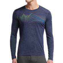 Icebreaker BodyFit 200 Oasis Equalizer Base Layer Top - Merino Wool, Crew Neck, Long Sleeve (For Men) in Fathom Heather/Fathom Heather - Closeouts