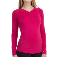Icebreaker Bodyfit 200 Oasis Henley Base Layer Top - UPF 50+, Merino Wool, Long Sleeve (For Women) in Cherub - Closeouts