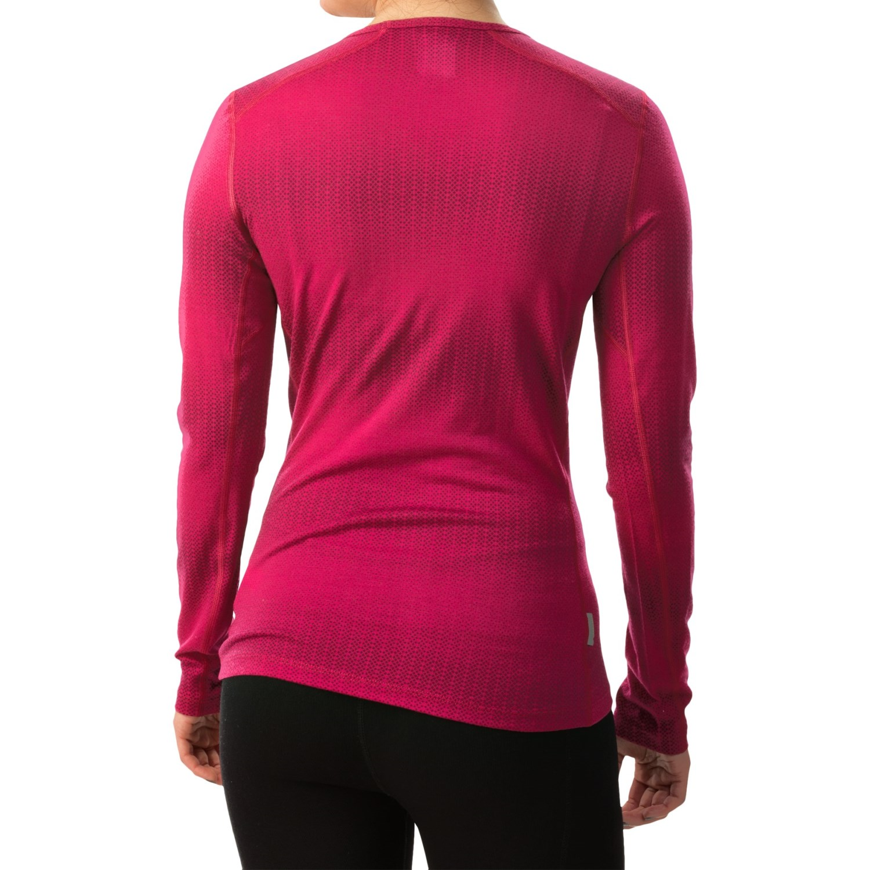 icebreaker bodyfit 200 oasis matrix v neck shirt for women save 50. Black Bedroom Furniture Sets. Home Design Ideas