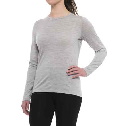 Icebreaker BodyFit 200 Oasis Merino Base Layer Top - UPF 30+, Long Sleeve (For Women) in Blizzard Heather - Closeouts