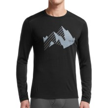 Icebreaker BodyFit 200 Oasis New Streak Base Layer Top - Merino Wool, Crew Neck, Long Sleeve (For Men) in Black/Black - Closeouts