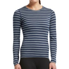 Icebreaker Bodyfit 200 Oasis Stripe Base Layer Top - UPF 30+, Merino Wool, Long Sleeve (For Women) in Admiral/Blizzard Heather - Closeouts
