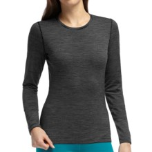 Icebreaker Bodyfit 200 Oasis Stripe Base Layer Top - UPF 30+, Merino Wool, Long Sleeve (For Women) in Black - Closeouts