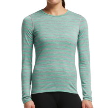Icebreaker Bodyfit 200 Oasis Stripe Base Layer Top - UPF 30+, Merino Wool, Long Sleeve (For Women) in Metro Heather/Patina - Closeouts