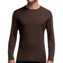 Icebreaker BodyFit 200 Oasis Striped Base Layer Top - UPF 30+, Lightweight, Merino Wool, Long Sleeve (For Men) in Chocolate/Chocolate - Closeouts