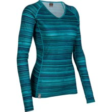 Icebreaker Bodyfit 200 Oasis V Ripple Base Layer Top - Merino Wool, Long Sleeve (For Women) in Gulf - Closeouts
