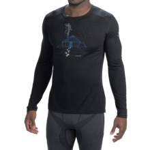 Icebreaker BodyFit 200 Oasis Yurt Base Layer Top - UPF 30, Merino Wool, Long Sleeve (For Men) in Black - Closeouts