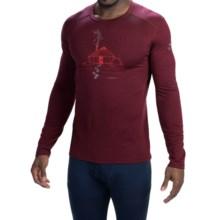 Icebreaker BodyFit 200 Oasis Yurt Base Layer Top - UPF 30, Merino Wool, Long Sleeve (For Men) in Redwood - Closeouts
