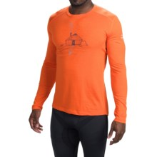 Icebreaker BodyFit 200 Oasis Yurt Base Layer Top - UPF 30, Merino Wool, Long Sleeve (For Men) in Spark - Closeouts