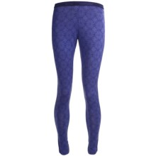 Icebreaker Bodyfit 200 Printed Base Layer Leggings - Merino Wool (For Women) in Abyss/Horizon - Closeouts