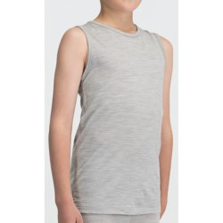 Icebreaker Bodyfit 200 Tank Top - Merino Wool (For Kids) in Snow