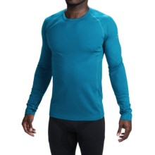 Icebreaker BodyFit 200 Zone Base Layer Top - UPF 40+, Merino Wool, Long Sleeve (For Men) in Alpine/Chartreuse - Closeouts