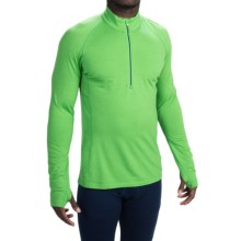 Icebreaker BodyFit 200 Zone Base Layer Top - UPF 40+, Merino Wool, Zip Neck, Long Sleeve (For Men) in Balsam/Night/Night - Closeouts