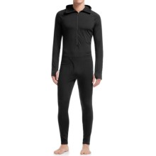 Icebreaker BodyFit 200 Zone One Sheep Base Layer Suit - Merino Wool, Zip Neck (For Men) in Black/Black/Black - Closeouts